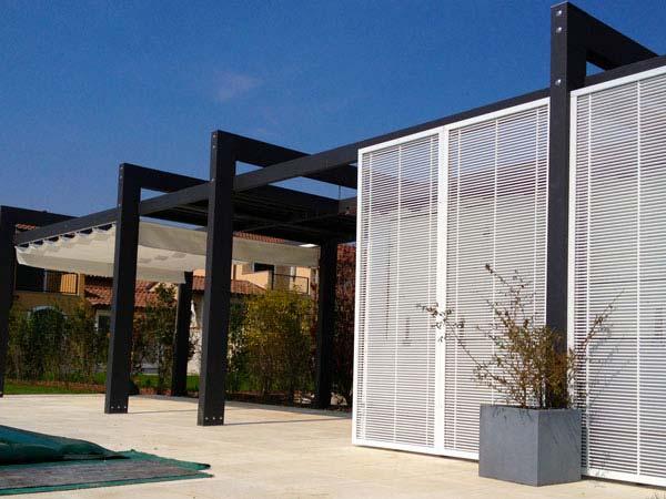 Gazebo in legno milano novate milanese montaggio vendita pergole porticati giardino auto - Gazebo terrazzo vento ...